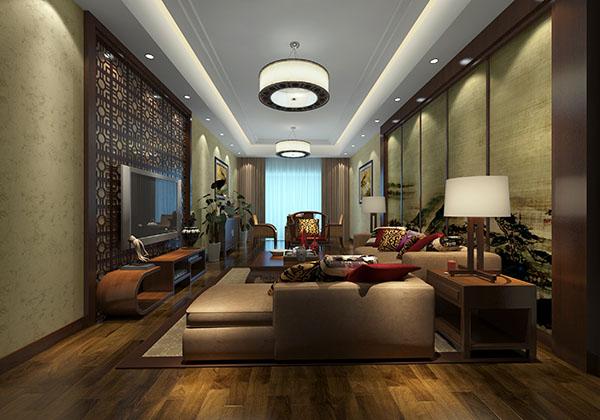 山西98平米中式装修风格样板房