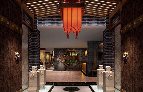 店面展厅 中式办公 会所  这套中式餐厅设计中,设计师在对传统文化