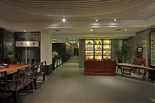 福州500平米幽静而高雅的中式茶楼装修效果图