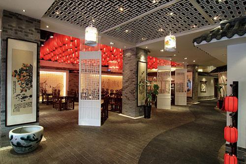 中国特色的以红灯笼为主的中式餐厅装修