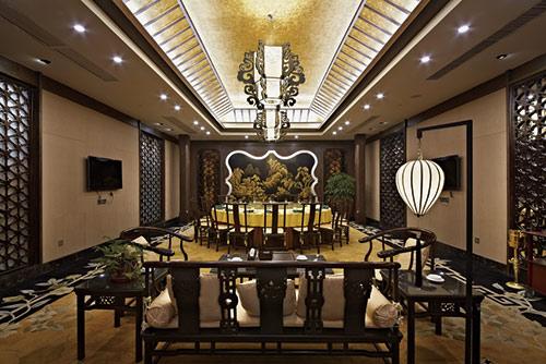 中餐厅室内设计效果图_餐厅中式装修图片_北京云臻轩图片