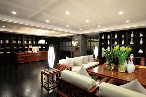 中式办公室装修设计效果图|案例-北京云臻轩中式装修.