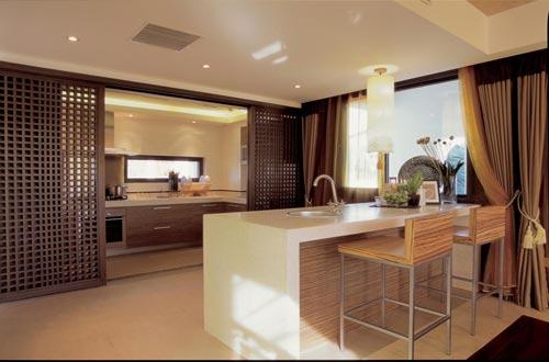 开放式新中式厨房装修设计有哪些值得注意的地