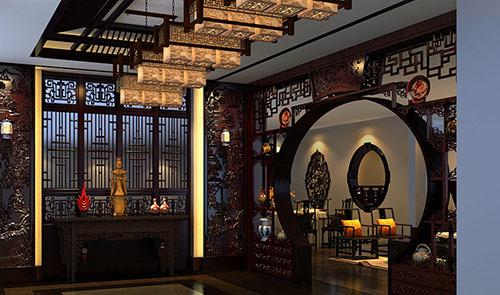 中山忆古轩红木家具展厅设计效果图