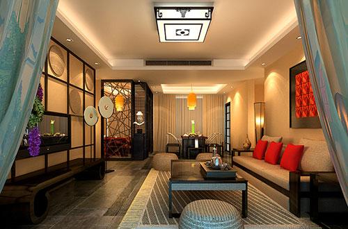 北京100平米温馨的新中式风格装修效果图
