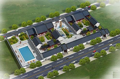 四合院室內設計圖片_別墅四合院中式裝修效果圖_北京