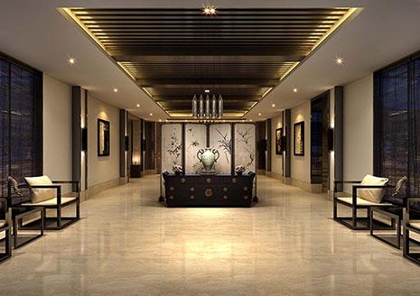 山西中式禅意茶楼会所室内设计方案