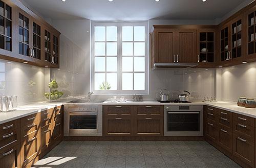 复古厨房装修效果图
