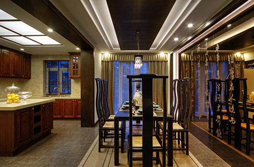 中式餐厅厨房装修效果图