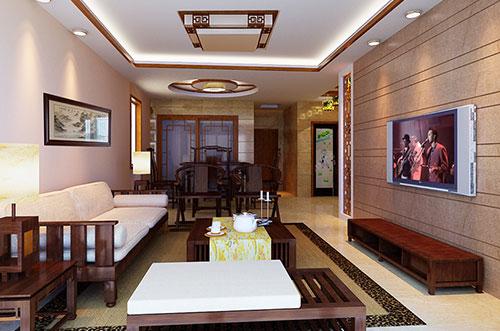 滨州85平米的两室一厅小户型中式设计