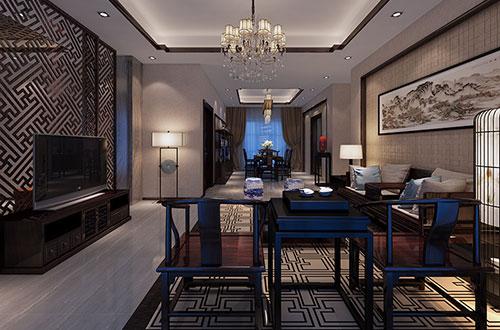 精品的大三居中式室内家装设计效果图