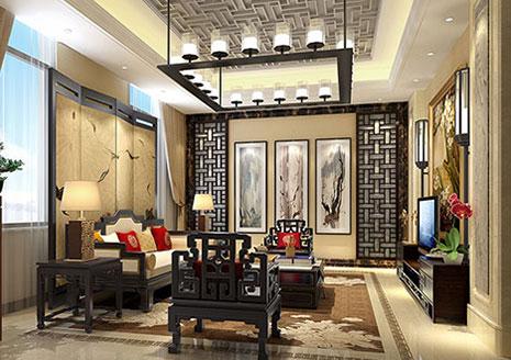 河北邢台精品住宅中式家装设计