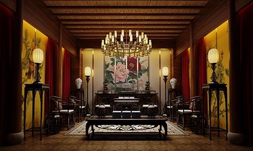四合院室内设计图片_别墅四合院中式装修效果图