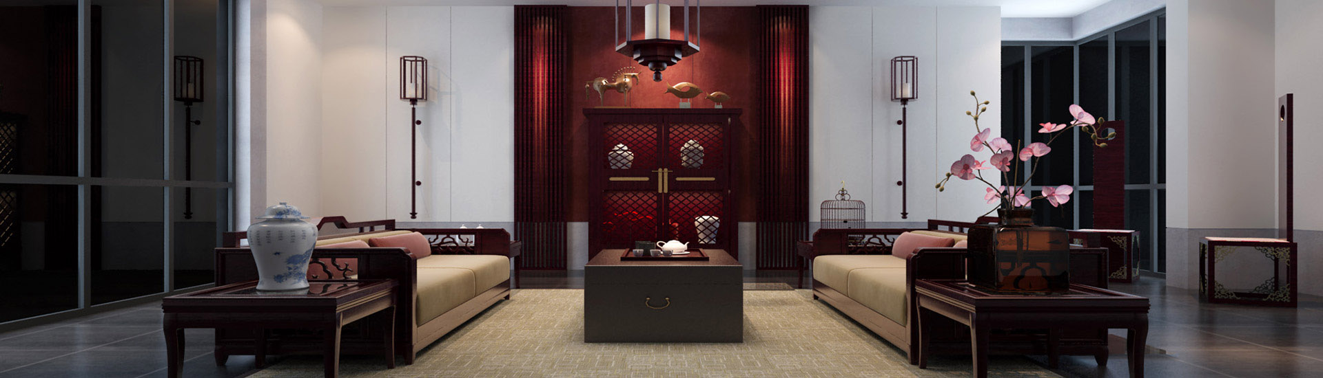 佛山130平米家居简中式装修风格图片