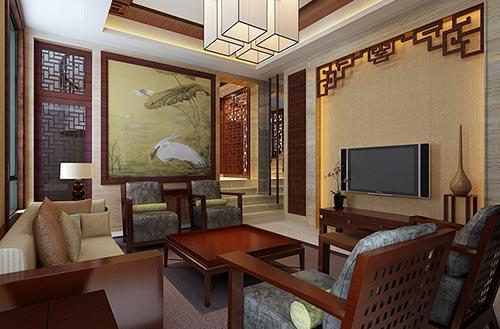 东阳李总精品住宅楼中楼新中式设计效果图