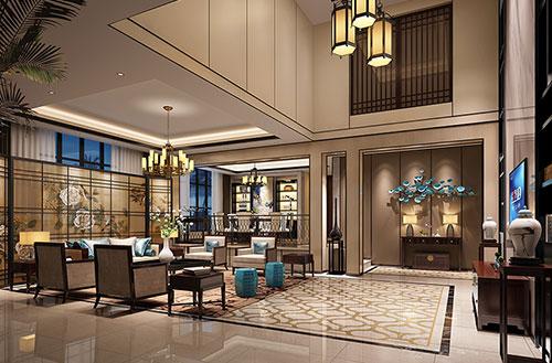 衢州刘先生的别墅新中式装修设计案例