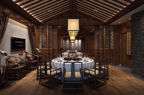 中餐厅室内设计效果图_餐厅中式装修图片_北京云臻轩