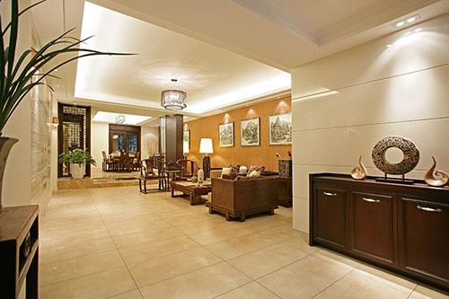 镇江四室两厅中式装修样板房