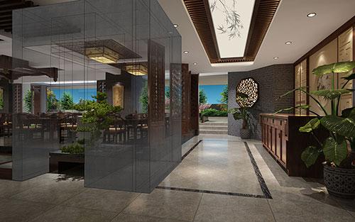 肇庆宽敞通透的茶楼中式装修效果图