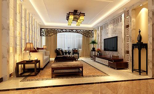 江门市123平米样板房新中式风格装修