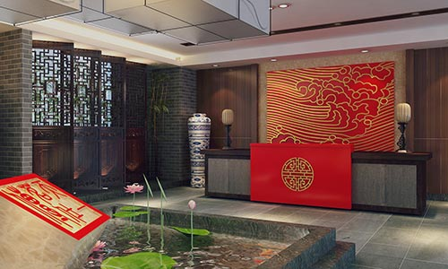 惠州古色古香的利达茶楼装饰