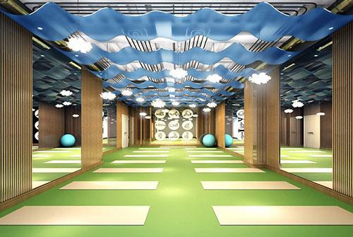 北京王女士新中式瑜伽馆设计效果图
