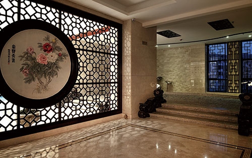 上饶1285平米中式风格办公室装修效果图