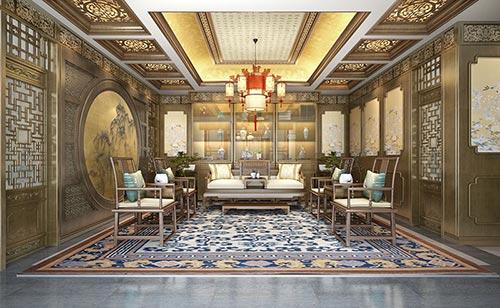 北京四合院内部装修设计效果图