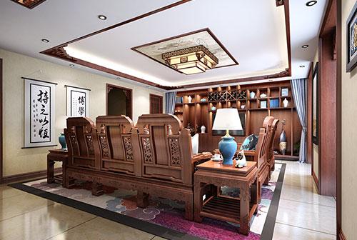 丰台邢女士100平米极简中式精品住宅两居室装修效果图