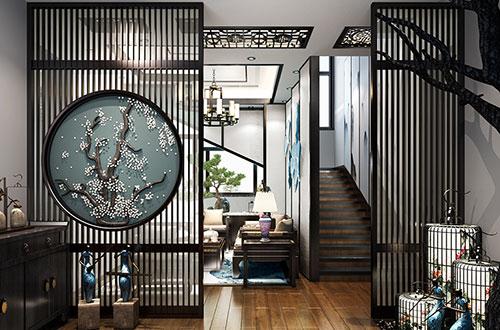 湖北松滋300平自建别墅新中式风格设计效果图