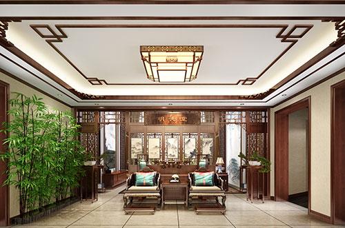 鄂尔多斯500平自建别墅中式装修效果图
