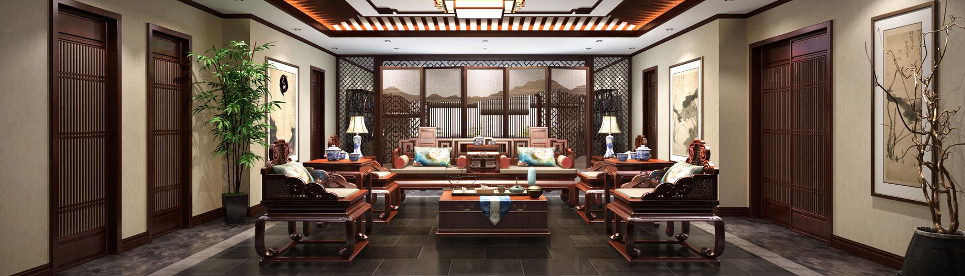 内蒙古600平新古典成德书院中式装修效果图