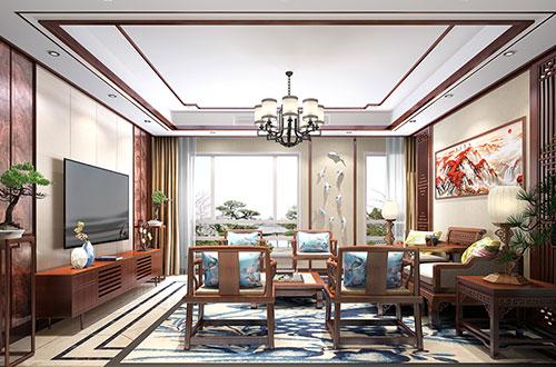 自然而温馨的220平米简约中式风格精品复式楼装修效果图