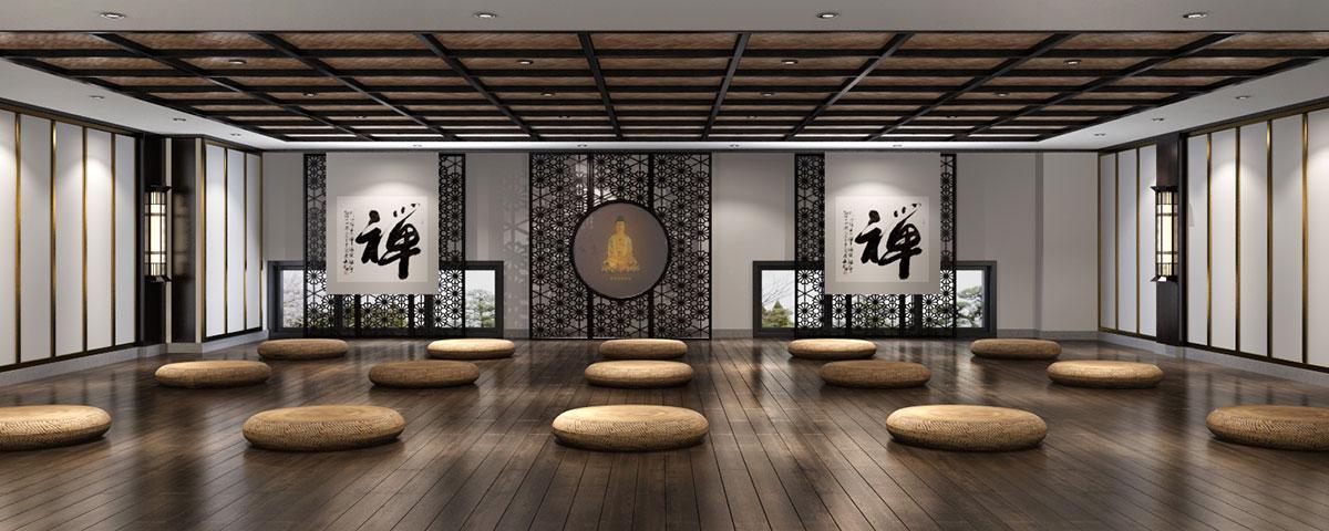 西安500平新中式风格禅茶会所装修