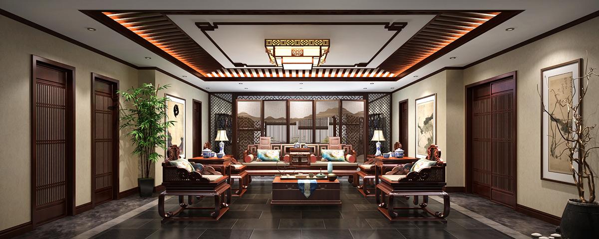 内蒙古600平新古典成德书院中式装