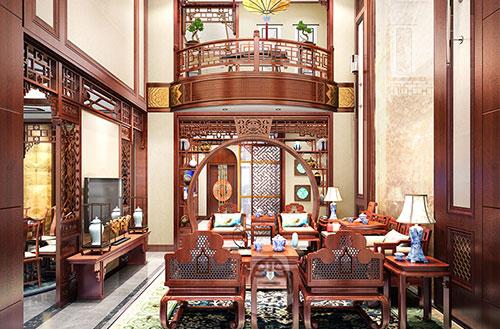 天津武清张先生600平米中式别墅设计效果图