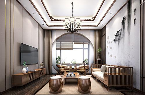 极简禅意中式家居客厅装修效果图