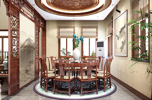 中国古式餐厅装修效果图