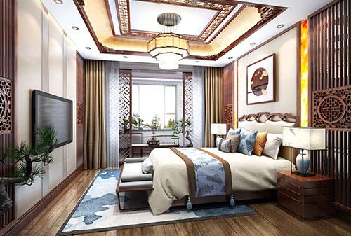 新中式卧室装修效果图大全