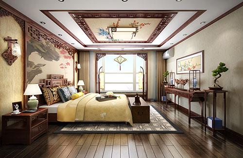 新中式臥室裝修效果圖大全