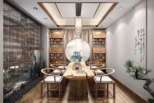 家庭禅意茶室中式装修效果图