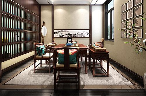 古朴风格茶室装修效果图
