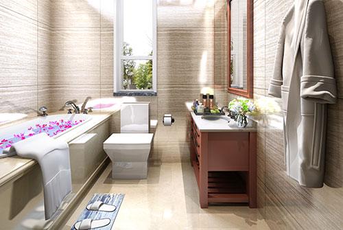 现代极简中式家居卫生间装修效果图