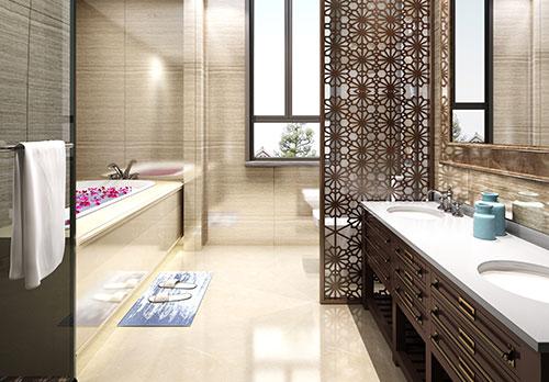 家庭简单中式卫生间装修效果图