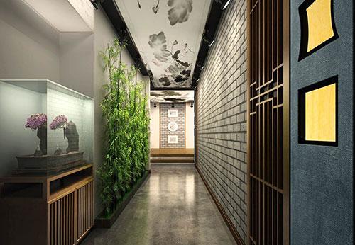 别墅门厅过道装修效果图_北京云臻轩中式设计机构