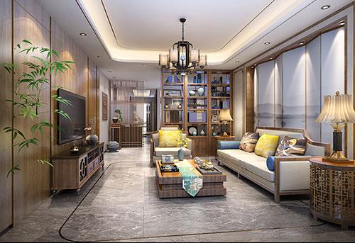 北京人济山庄张先生150平极简中式三居室设计效果图