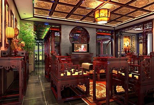北京湾商务中式会所设计|来一场风雅文人的千年际会