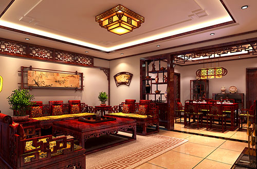 国色丹青入卷的中式风雅家装设计效果图