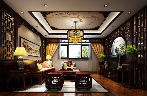 湖北监利中国文人画式的新中式家装设计效果图