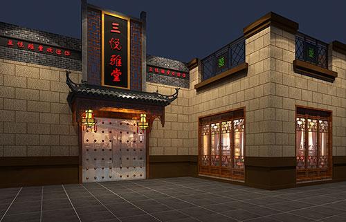 无锡中式茶叶店装修——极具诗词意味的茶境空间